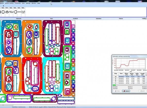 CutNest cutting software for gasket